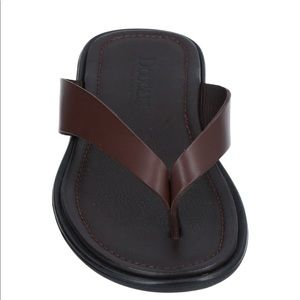 NWT Made in Italy Brown Leather Men Sandals